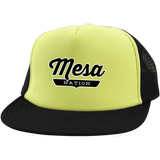 Neon Yellow/Black / One Size Mesa Nation Trucker Hat with Snapback - The Nation Clothing
