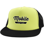 Neon Yellow/Black / One Size Mobile Nation Trucker Hat with Snapback - The Nation Clothing