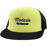 Neon Yellow/Black / One Size Modesto Nation Trucker Hat with Snapback - The Nation Clothing