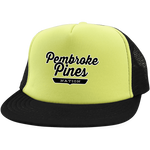 Neon Yellow/Black / One Size Pembroke Pines Nation Trucker Hat with Snapback - The Nation Clothing