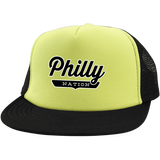 Neon Yellow/Black / One Size Philly Trucker Hat with Snapback - The Nation Clothing