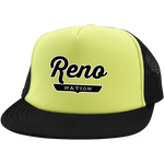 Neon Yellow/Black / One Size Reno Nation Trucker Hat with Snapback - The Nation Clothing