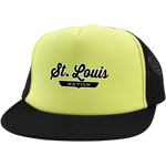 Neon Yellow/Black / One Size St. Louis Nation Trucker Hat with Snapback - The Nation Clothing