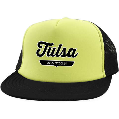 Neon Yellow/Black / One Size Tulsa Nation Trucker Hat with Snapback - The Nation Clothing