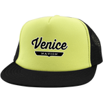 Neon Yellow/Black / One Size Venice Nation Trucker Hat with Snapback - The Nation Clothing