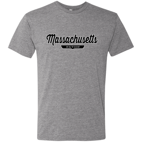 Premium Heather / S Massachusetts Nation T-shirt - The Nation Clothing