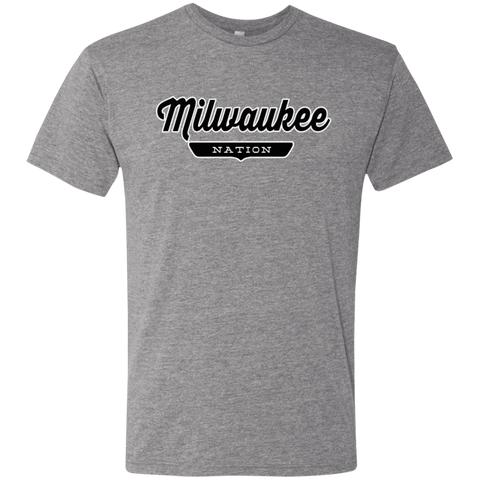 Premium Heather / S Milwaukee Nation T-shirt - The Nation Clothing