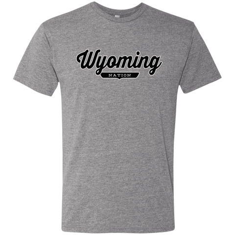 Premium Heather / S Wyoming Nation T-shirt - The Nation Clothing