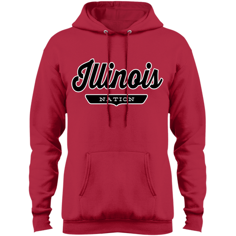 Red / S Illinois Hoodie - The Nation Clothing