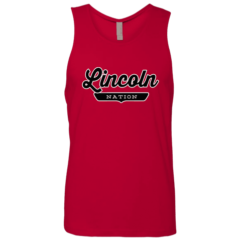Red / S Lincoln Nation Tank Top - The Nation Clothing
