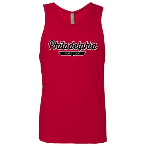 Red / S Philadelphia Nation Tank Top - The Nation Clothing