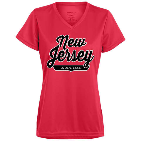 Red / X-Small New Jersey Nation Women's T-shirt - The Nation Clothing