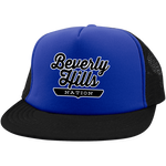Royal/Black / One Size Beverly Hills Nation Trucker Hat with Snapback - The Nation Clothing