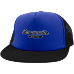 Royal/Black / One Size Brownsville Nation Trucker Hat with Snapback - The Nation Clothing
