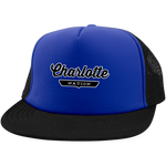Royal/Black / One Size Charlotte Nation Trucker Hat with Snapback - The Nation Clothing