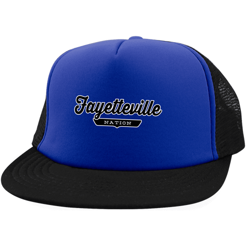 Royal/Black / One Size Fayetteville Nation Trucker Hat with Snapback - The Nation Clothing