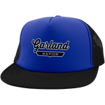 Royal/Black / One Size Garland Nation Trucker Hat with Snapback - The Nation Clothing