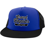 Royal/Black / One Size Grand Rapids Nation Trucker Hat with Snapback - The Nation Clothing