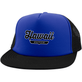 Royal/Black / One Size Hawaii Nation Trucker Hat with Snapback - The Nation Clothing