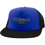 Royal/Black / One Size Hollywood Nation Trucker Hat with Snapback - The Nation Clothing