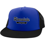 Royal/Black / One Size Honolulu Nation Trucker Hat with Snapback - The Nation Clothing