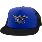 Royal/Black / One Size Huntington Beach Nation Trucker Hat with Snapback - The Nation Clothing