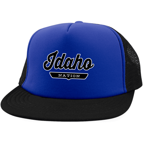Royal/Black / One Size Idaho Nation Trucker Hat with Snapback - The Nation Clothing