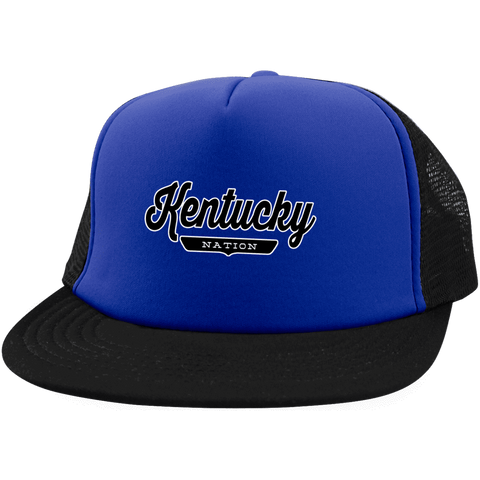 Royal/Black / One Size Kentucky Nation Trucker Hat with Snapback - The Nation Clothing