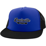 Royal/Black / One Size Louisville Nation Trucker Hat with Snapback - The Nation Clothing