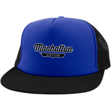 Royal/Black / One Size Manhattan Nation Trucker Hat with Snapback - The Nation Clothing