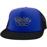 Royal/Black / One Size Mobile Nation Trucker Hat with Snapback - The Nation Clothing