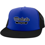 Royal/Black / One Size Modesto Nation Trucker Hat with Snapback - The Nation Clothing