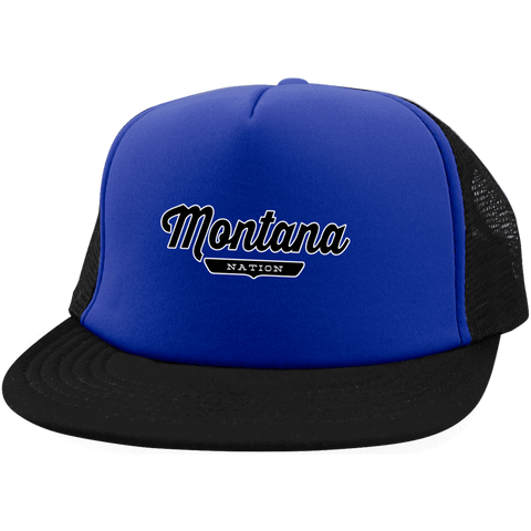 Royal/Black / One Size Montana Nation Trucker Hat with Snapback - The Nation Clothing
