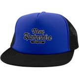 Royal/Black / One Size New Hampshire Nation Trucker Hat with Snapback - The Nation Clothing