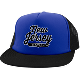 Royal/Black / One Size New Jersey Nation Trucker Hat with Snapback - The Nation Clothing