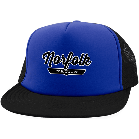 Royal/Black / One Size Norfolk Nation Trucker Hat with Snapback - The Nation Clothing