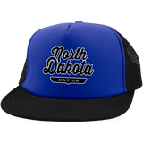 Royal/Black / One Size North Dakota Nation Trucker Hat with Snapback - The Nation Clothing