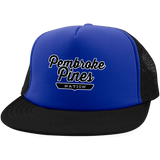 Royal/Black / One Size Pembroke Pines Nation Trucker Hat with Snapback - The Nation Clothing