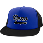 Royal/Black / One Size Reno Nation Trucker Hat with Snapback - The Nation Clothing