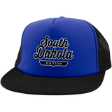Royal/Black / One Size South Dakota Nation Trucker Hat with Snapback - The Nation Clothing