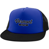 Royal/Black / One Size Vermont Nation Trucker Hat with Snapback - The Nation Clothing