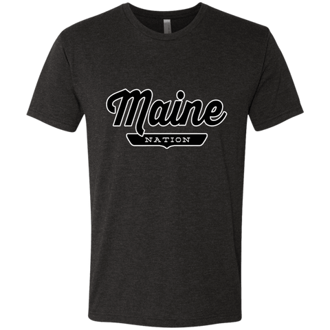 Vintage Black / S Maine Nation T-shirt - The Nation Clothing