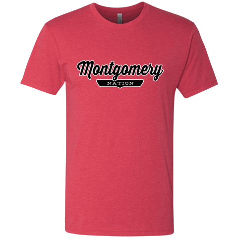 Vintage Red / S Montgomery Nation T-shirt - The Nation Clothing