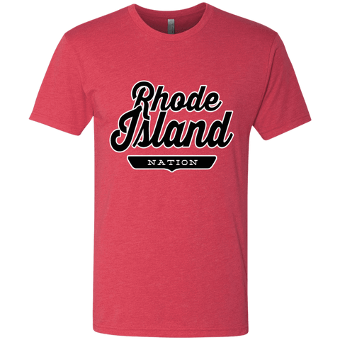 Vintage Red / S Rhode Island Nation T-shirt - The Nation Clothing