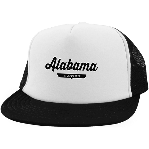 White/Black / One Size Alabama Trucker Hat with Snapback - The Nation Clothing