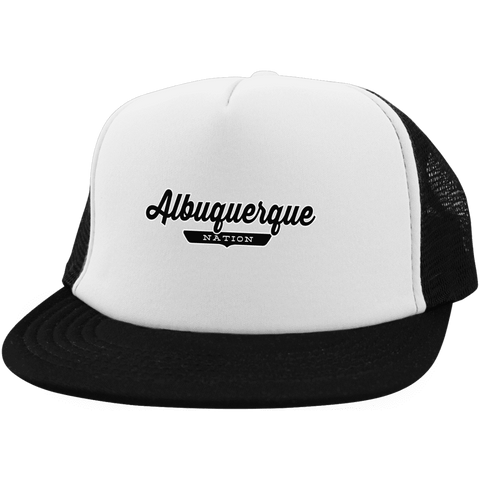 White/Black / One Size Albuquerque Nation Trucker Hat with Snapback - The Nation Clothing
