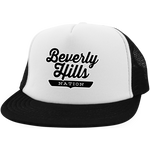 White/Black / One Size Beverly Hills Nation Trucker Hat with Snapback - The Nation Clothing