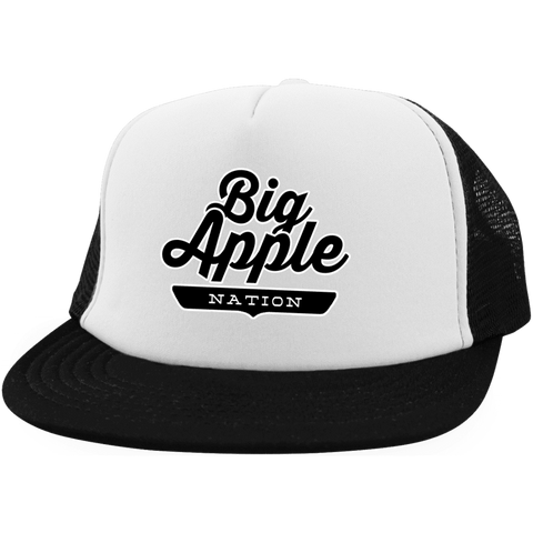 White/Black / One Size Big Apple Trucker Hat with Snapback - The Nation Clothing