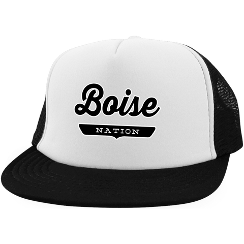 White/Black / One Size Boise Nation Trucker Hat with Snapback - The Nation Clothing