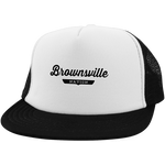 White/Black / One Size Brownsville Nation Trucker Hat with Snapback - The Nation Clothing